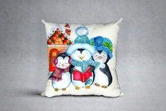 Cute Watercolor Penguins clipart Product Image 3