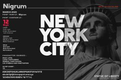 Nigrum - Sans Serif font Family Product Image 6
