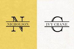Split Letter Monogram Font Product Image 4
