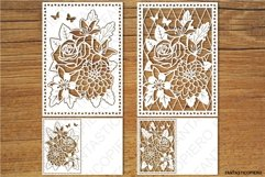 Floral Greeting Card 3 SVG files for Silhouette and Cricut. Product Image 1