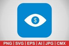Vector Eye Dollar Icon Product Image 1