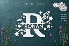 Baby Name Split Monograms - SVG files for Laser cut, Cricut Product Image 4