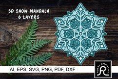 3d Layered Snow Mandala - SVG Product Image 1
