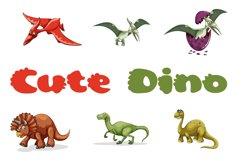 Cute Dino Dinosaur Font Product Image 1