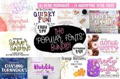 Best Sellers - The 'Popular Fonts' Bundle - 10 font families Product Image 1