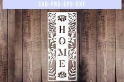 Home SVG Cut File, Housewarming Sign Designs, DXF EPS PNG Product Image 1