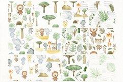 Savannah. Watercolor animals. Product Image 6
