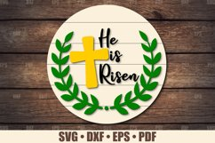 He Is Risen SVG Glowforge Ready | Easter SVG Product Image 1