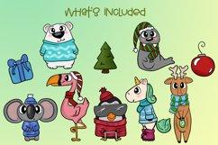 Holiday Animals|Animal Christmas Illustrations|PNG Files Product Image 2