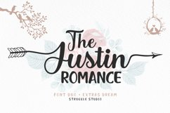 The Justin Romance - Font Duo plus Extras Product Image 1