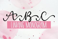 Linking Monogram Font - Linking Letters Product Image 1