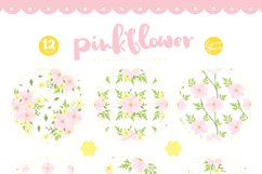Pink Flower Seamless Patterns Product Image 2