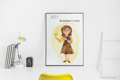SCHOOL. Watercolor collection. Clipart, cards, patterns Product Image 6