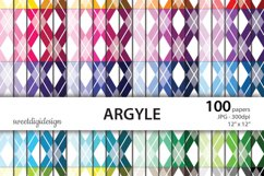 Argyle colorful digital paper Product Image 1