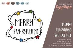 Merry Everything SVG / Christmas Lights SVG / Xmas Product Image 2