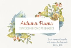 Watercolor autumn frames and borders Product Image 1
