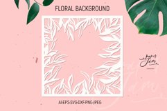 floral frame svg floral Background SVG paper cut template sv Product Image 1