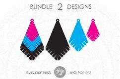 Earrings SVG, Teardrop earring, Geometrical earrings Product Image 3