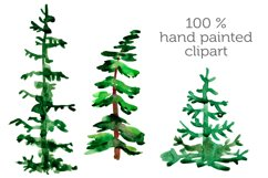 Watercolor Mountains and conifers Product Image 2
