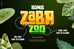 Zaba Zoo - Jungle Font with Text effect Product Image 2