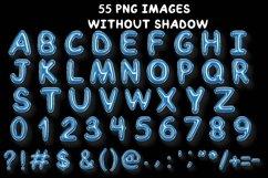 Blue Balloon Alphabet Elements. Product Image 3
