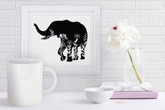 Floral Elephant SVG Cut Files. Floral Elephant Clipart. Product Image 4