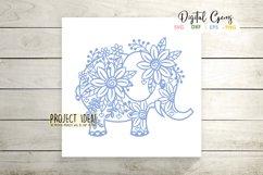 Elephant paper cut design SVG / DXF / EPS / PNG files Product Image 5