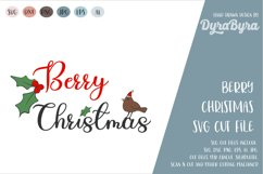 Berry Christmas SVG / Merry Christmas SVG / Holly Berry SVG Product Image 1