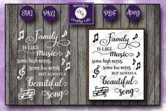Family music wall quote - SVG - PNG - PDF - 2 Jpeg files Product Image 1