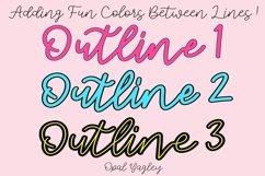 3 Outline Procreate Brushes - Mono Outline Lettering Brush Product Image 3