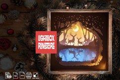 #17 Deer Spirit, 3D Shadow box paper cut lightbox Product Image 2