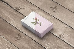 Pink Rose Business Card Template Product Image 3
