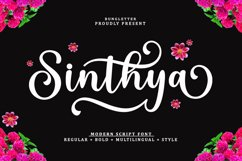 Sinthya - Modern Script Product Image 1