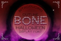 Bone Halloween Font Outline Product Image 4