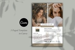 Media Kit Template, 3 Pages, Canva Product Image 2