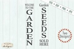 Garden Seeds Vertical Porch Sign SVG DXF Files Product Image 2