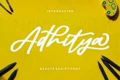 Web Font Adhitya - Beauty Script Font Product Image 1
