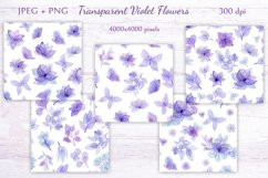 Transparent Violet Flowers Product Image 6