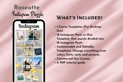 Instagram Puzzle Template Canva- Roseatte Product Image 3