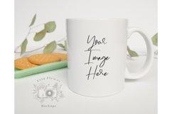 Mug Mockup | 11oz Coffee Cup Mock up with cookies Product Image 2