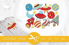 Outer Space cutting files svg, dxf, pdf, eps included - cut files for cricut and silhouette - Cutting Files SVG Product Image 1