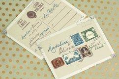 Vintage Stamp Wedding Invitation Product Image 2