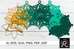 3D Layered Christmas Ornaments SVG | Laser Cut Design Product Image 2