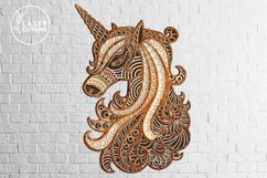 Multilayer Cut File UNICORN for Cricut or Wood Laser Cutting Product Image 6