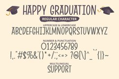 Happy Graduation - Funny Condensed Font with Shadow Product Image 4