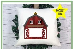 Customizable Red Barn PNG for Sublimation Product Image 2