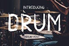 Drum. Handmade brush display font  Product Image 1