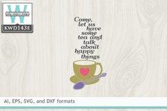 Tea SVG - Tea and Talk Product Image 2