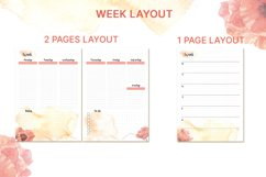 Printable undated planner's sheet A5 Product Image 3