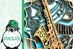 3d svg layered mandala music instrument saxophone Product Image 10